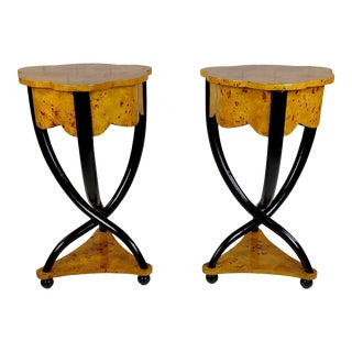 BiedermeierBedside Tables - a Pair For Sale
