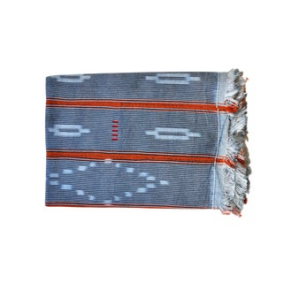 African Baule Cotton Throw For Sale