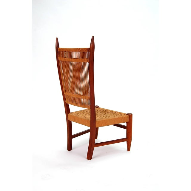 Mid-Century Modern Diminutive Scandinavian Chair in Teak For Sale - Image 3 of 8