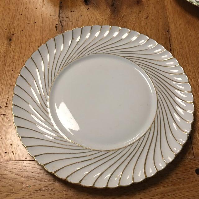 Waldershof Gold Swirl Plate For Sale - Image 4 of 4