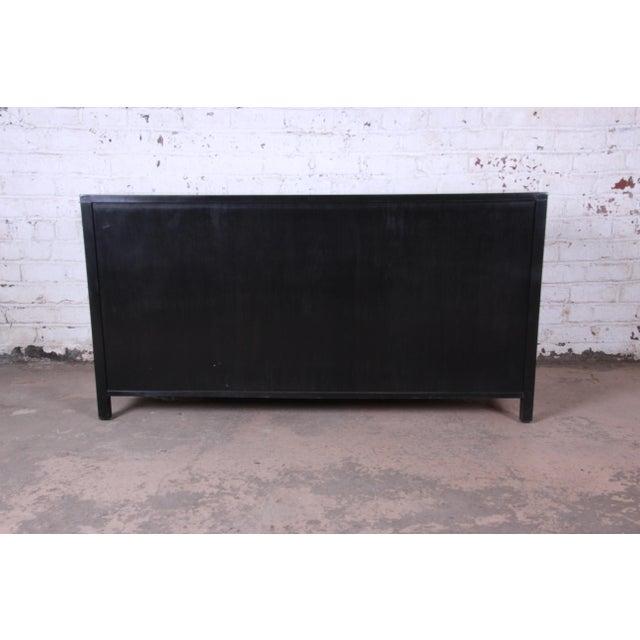 Baker Furniture Hollywood Regency Ebonized Long Dresser For Sale - Image 11 of 13