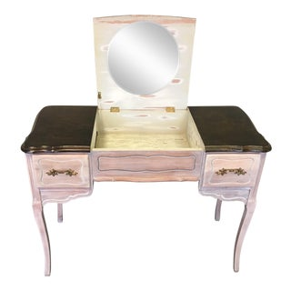 Vintage 1940's Beach Aged Vanity For Sale