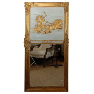 Mid 19th Century French Trumeau Mirror For Sale