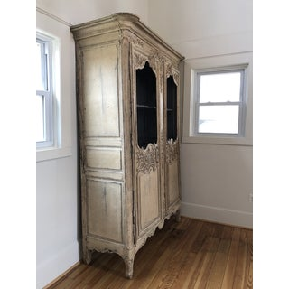 18th Century French Provincial Louis XV Painted Display Cabinet Book Shelf Armoire Preview