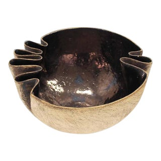 Large Modern Art Pottery Bowl For Sale