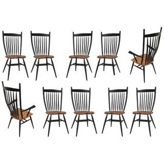 Set of 10 Handcrafted Studio Bent Chairs by Fabian Fischer, Germany, 2019 For Sale