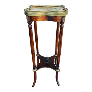 1920s Antique Marble Top Pedestal For Sale