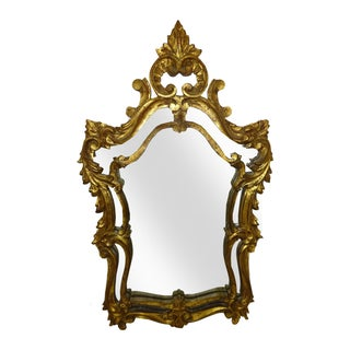 Italian Gilt Carved Louis XV Mirror