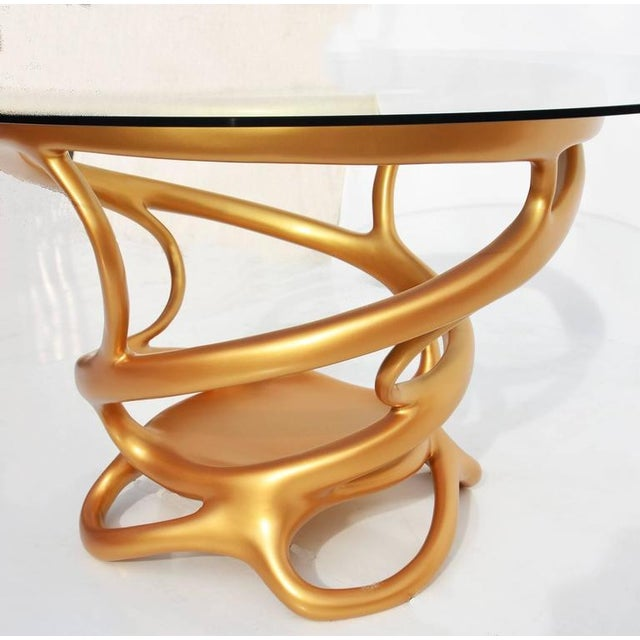 Freeform Gilded Entry or Occasional Table - Image 2 of 5