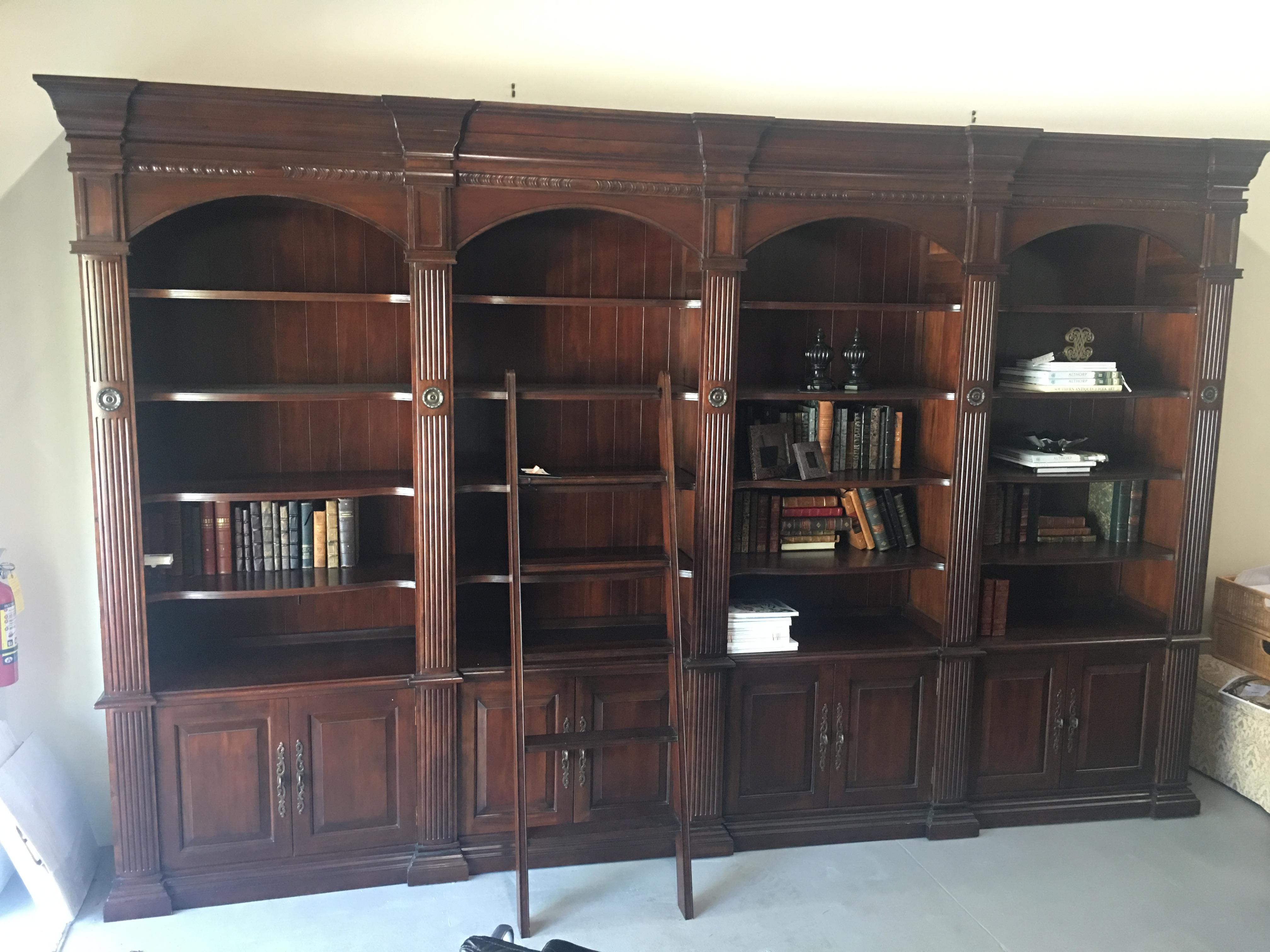 French Heritage Bordeaux Library 4 Unit System U0026 Ladder   Image 9 Of 12