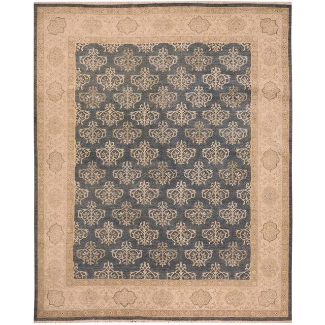Kafkaz Peshawar Dante Gray & Ivory Wool Rug - 9'0 X 11'8 For Sale