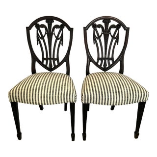 Antique Mahogany Hepplewhite Chairs - a Pair For Sale