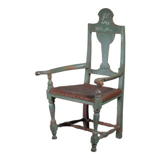 Danish Folk Art Chair From 1782 For Sale