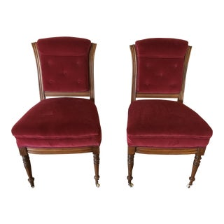 Antique Victorian Accent Chairs - a Pair