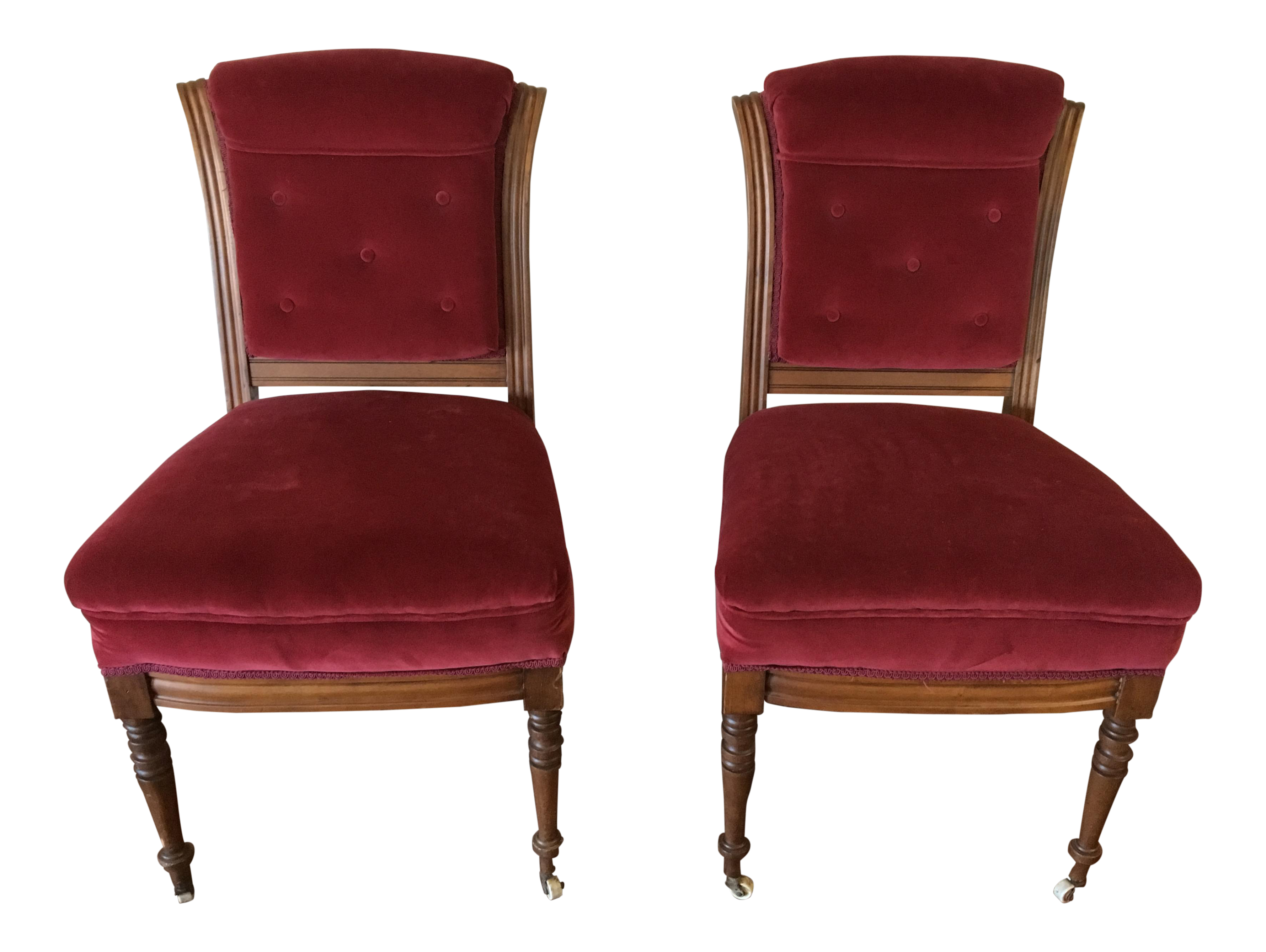 Antique Victorian Accent Chairs   A Pair