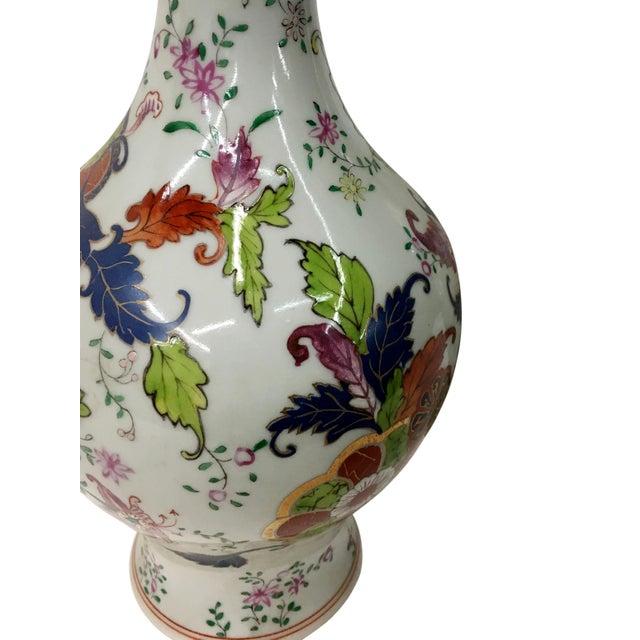 Tabacco Leaf Design Garniture Vase For Sale - Image 4 of 6