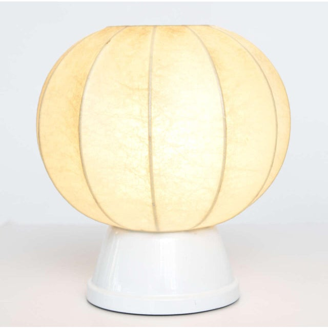 Pair of 60's German Table Lamps in the Manner of George Nelson For Sale - Image 4 of 10