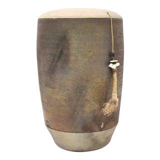 Vintage Rustic Michael Weinberg Ceramic Vase For Sale