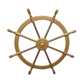 Solid Brass Boats Steering Wheel