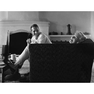 Paul Newman and Joanne Woodward at Their Beverly Hills Home, 1958 Photo by Sid Avery For Sale