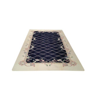 Modern Contemporary Dhurrie Hand Made Rug - 6x9 For Sale