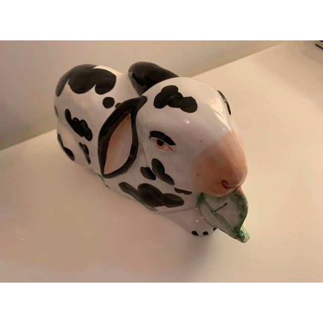 Traditional Mid 20th Century Chelsea House Spotted Porcelain Rabbit, Made in Italy For Sale - Image 3 of 8