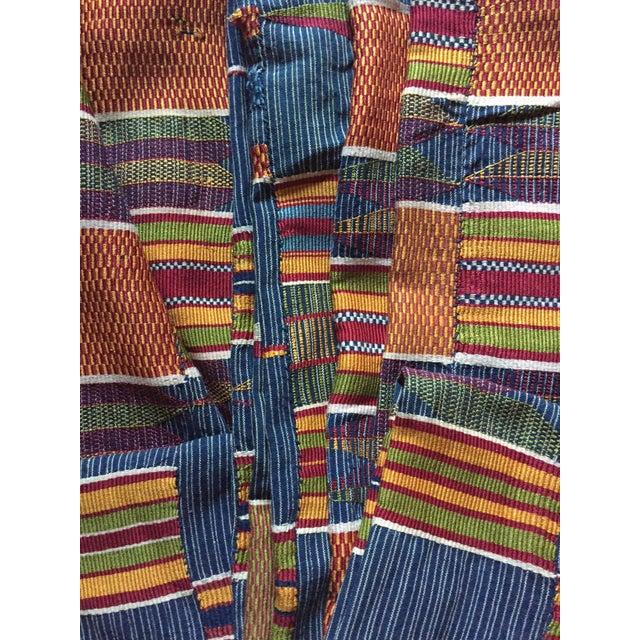 Vintage African Textile Kente Cloth Cotton Fabric / Blanket - Image 8 of 10