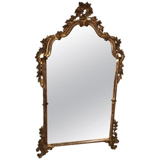 Antique Labarge Style Italian Baroque Mirror For Sale