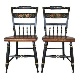 Hitchcock Black Harvest Inn Chairs - A Pair