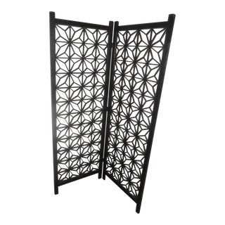 Mid-Century Folding Screen Room Divider For Sale
