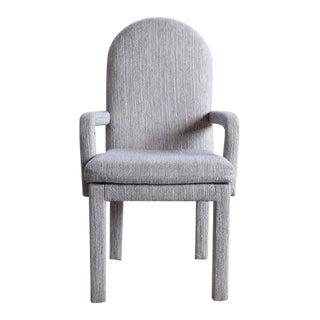 1980s Grey Parsons Milo Baughman Style Armchair For Sale