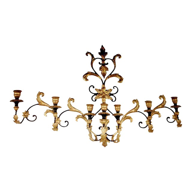 Seven-arm Monumental Wall Sconce For Sale