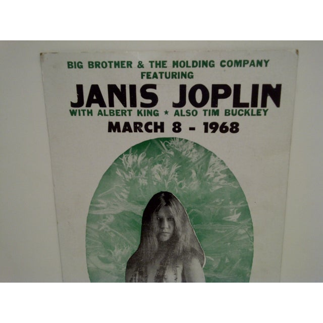 March 8, 1968 Janis Joplin Filmore East Theatre Concert Poster For Sale - Image 4 of 6
