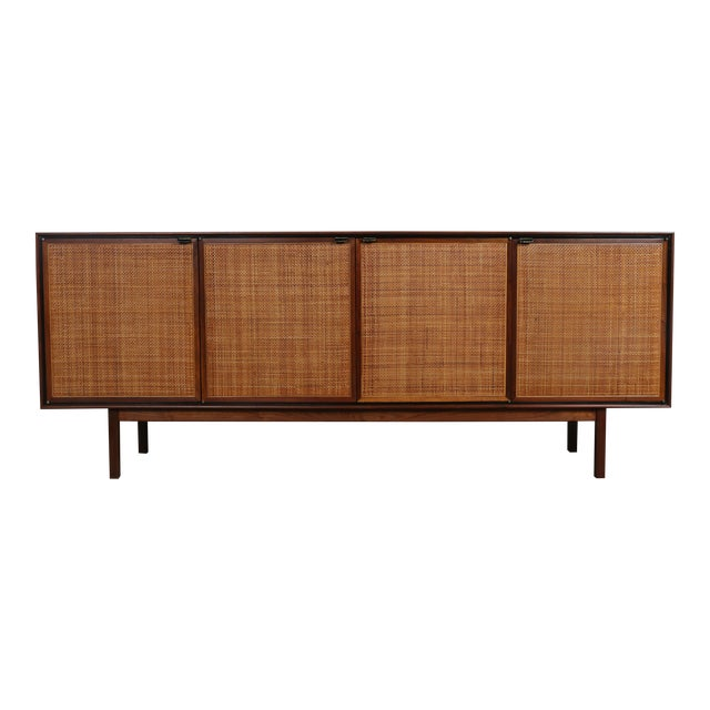 Walnut Cane Credenza by Founders - Image 1 of 11