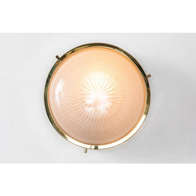 Artemide 1960s Sergio Mazza Brass 'Sigma' Wall or Ceiling Light for Artemide For Sale - Image 4 of 13