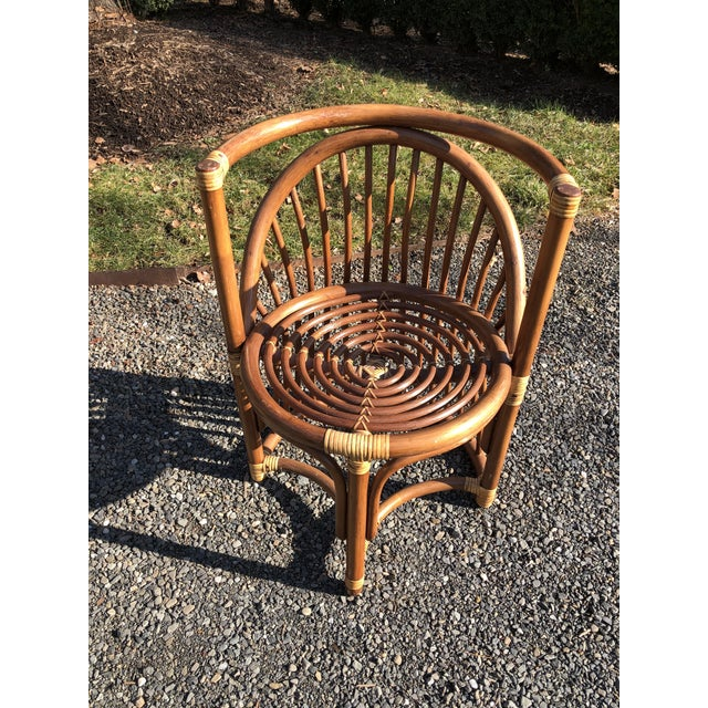 Boho Chic Rattan and Bentwood Dining Set for Two - 3 Pieces For Sale - Image 11 of 13