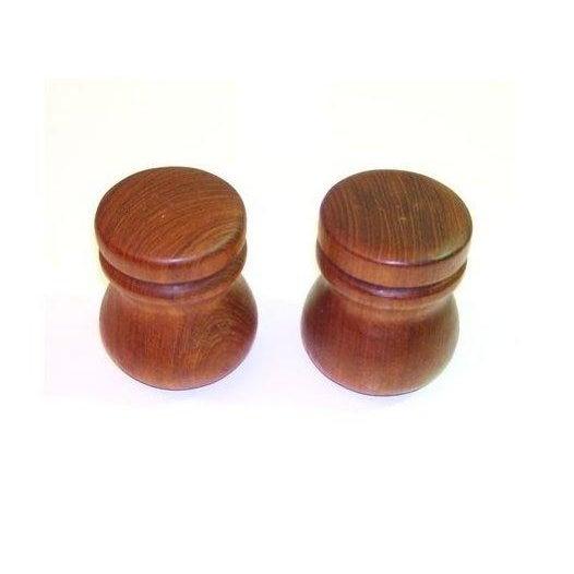 Teak Salt and Pepper Shakers - Pair - Image 2 of 3