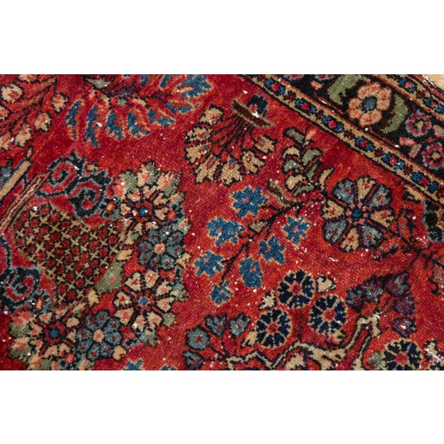 "Blue Vintage Lilihan Rug - 2'8"" X 4'5"" For Sale - Image 8 of 12"