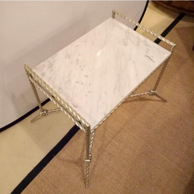 Early 21st Century Twisted Silver Gilt Metal Bench or Side Table For Sale - Image 5 of 6