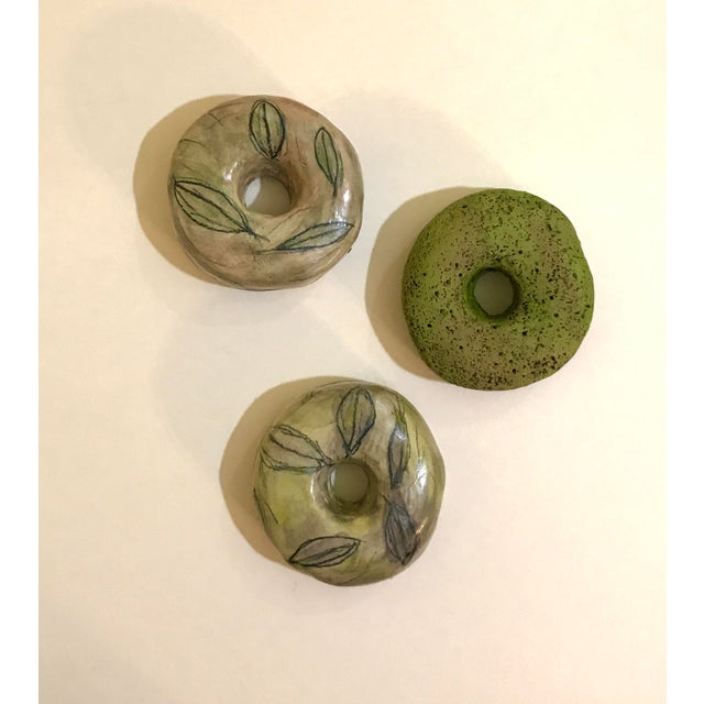 2010s Ceramic Wall Donuts - Set of 3 For Sale - Image 5 of 8