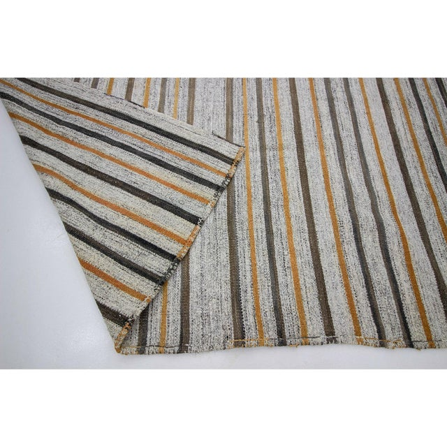 1960s 1960s Vintage Striped Kilim Rug- 6′10″ × 8′10″ For Sale - Image 5 of 7