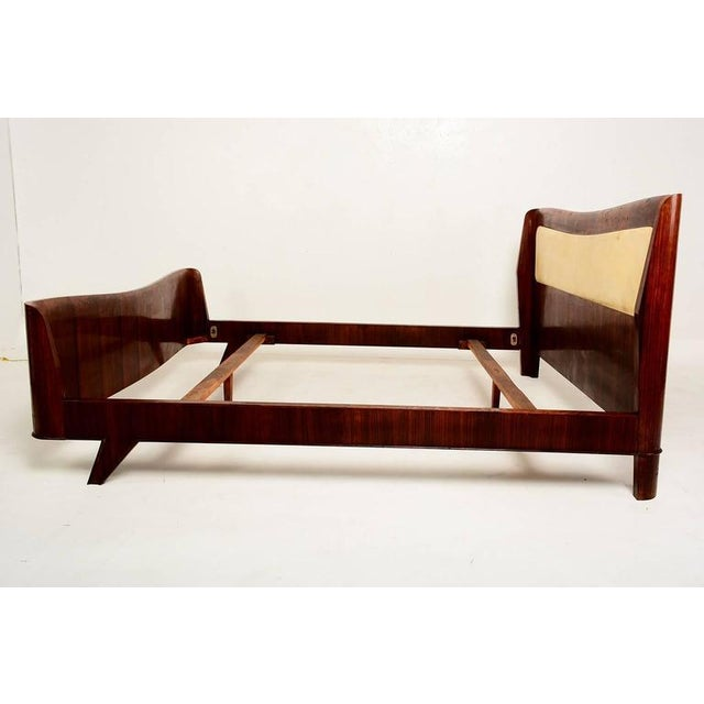 Italian Parchment & Walnut Queen Bedroom Set For Sale - Image 4 of 9