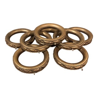 Vintage Ornate Curtain Rings - Set of 8 For Sale