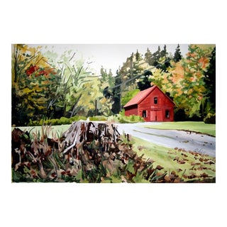 Vermont Barn In Fall Print For Sale