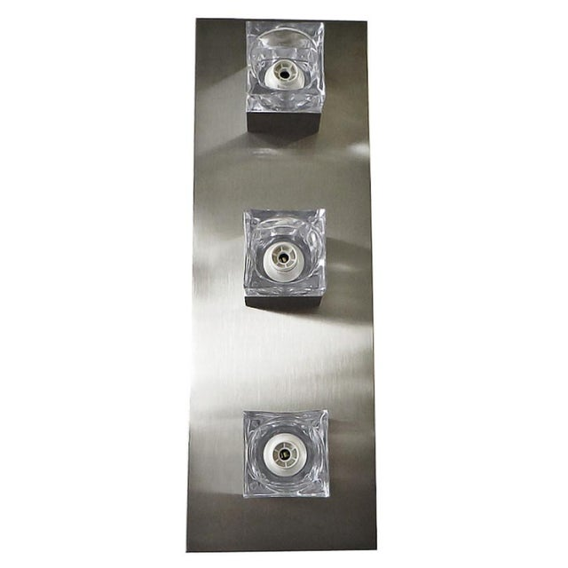 Transparent Sciolari Nickel Sconces or Flush Mounts (8 Available) For Sale - Image 8 of 8