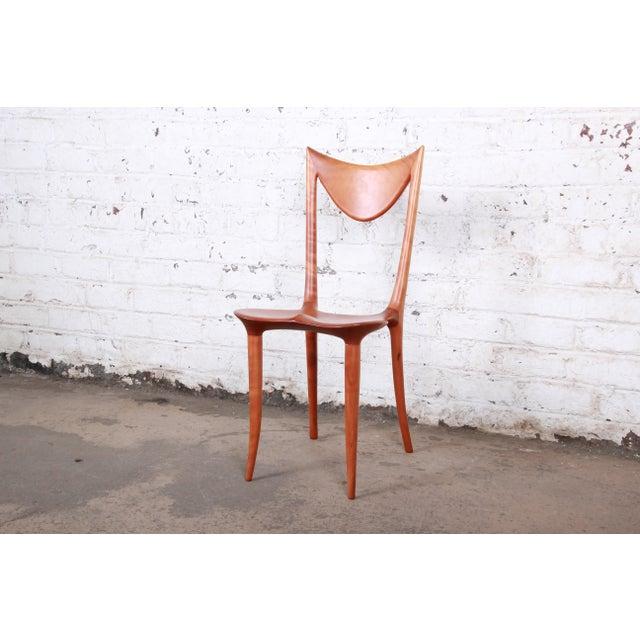"Oskar Kogoj Studio Craftsman Sculptural ""Venetia"" Chairs - a Pair For Sale - Image 9 of 13"