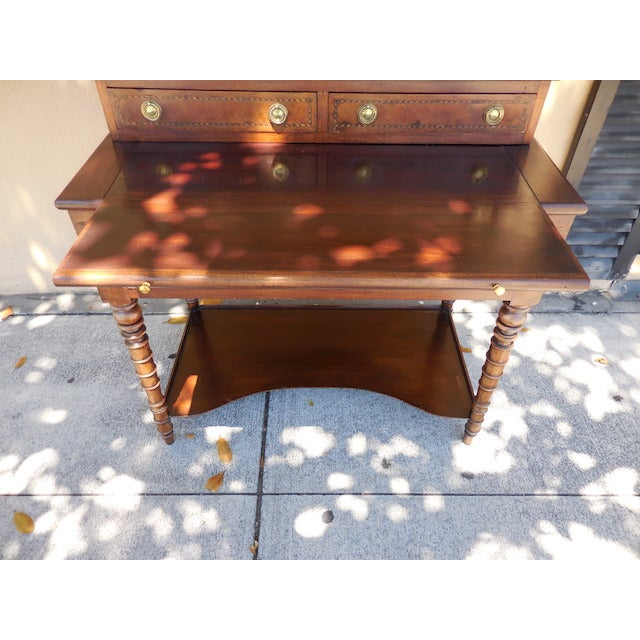 Antique English Mahogany Desk - Image 5 of 7
