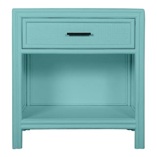 Bermuda One-Drawer Nightstand - Turquoise For Sale