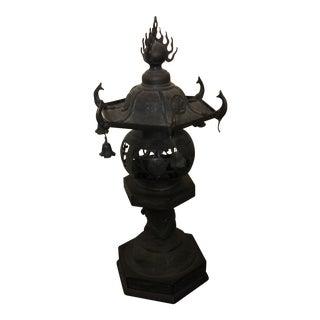 Antique Japanese Oil Lamp