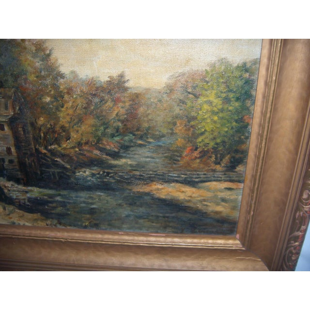 Painting of a Country Mill by a Stream For Sale In New York - Image 6 of 8
